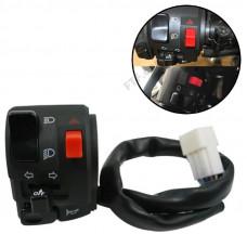 Перемикач сигналу, повороту на кермо, блок управління на кермо мотоцикла, світло, поворот, сигнал, 22мм, лівий