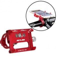 Велотримач телефону на кермо, кріплення на кермо самоката GUB-G85, кронштейн для смартфона, червоний
