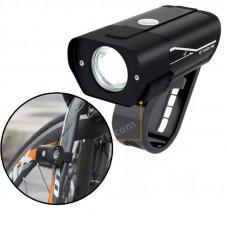 Велофара, ліхтар на велосипед, електросамокат HYD-018, алюмінієвий, 850mAh зарядка від USB, вологозахисний, чорний