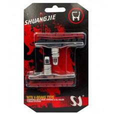 Гальмівні колодки V-brake Shuangjie з запасними вставками, змінний картридж