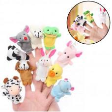 М'яка Іграшка на палець, ляльковий театр, тварини, розвиваюча іграшка, 10шт