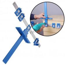 Т-подібний шаблон для свердління отворів під фурнітуру 5мм, меблевий кондуктор