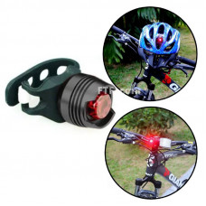 Велофонар задній, габарит на велосипед алюмінієвий, стоп-сигнал 1 діод
