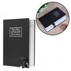 Сейф книга, англійський словник, книжка на ключі, метал, L 265х200х65мм