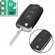 Ключ запалювання, чіп ID48 1J0959753DA, 3 кнопки, для Volkswagen, Seat, Skoda
