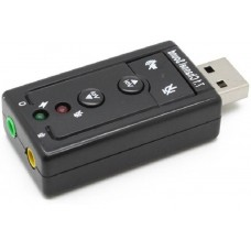 Звукова карта USB 7.1 з регулятором гучності