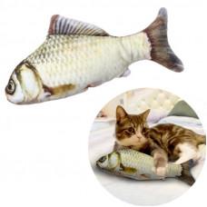 Іграшка для котика з мятою карп для кота м'яка рибка карп для кішки 19 см.