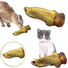 М'яка іграшка для котика риба Арована 19см для кішок кота з котячою м'ятою