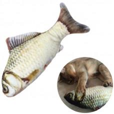Іграшка рибка для котика з мятою карп для кота м'яка риба для кішки 40 см.
