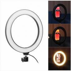 Кільцева LED лампа USB 12Вт 26см для селфі кільце, кільцеве світло