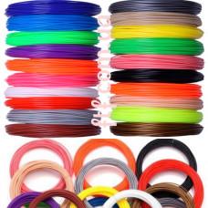 Філамент пластик PLA 20 кольорів 200м 1.75 мм для 3D-ручки, запаски