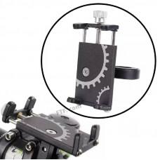 Кріплення, тримач телефону на кермо велосипеда, самоката, кронштейн для смартфона на кермо, чорний