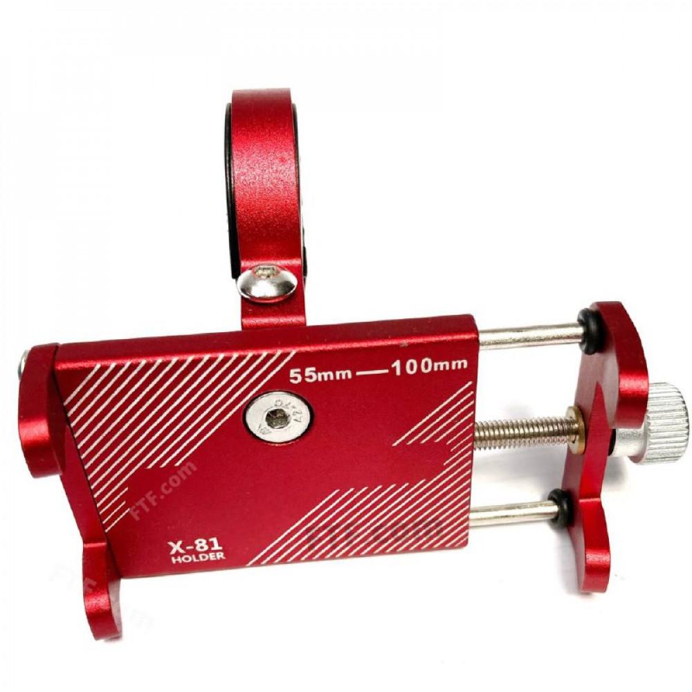 Кріплення, тримач телефону на кермо велосипеда, самоката, кронштейн для смартфона на кермо, червоний