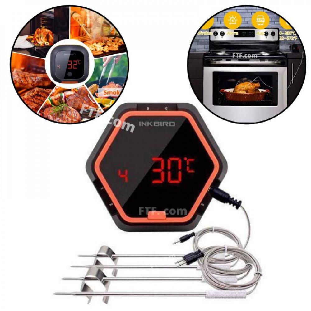 Термометр для гриля, кулінарний Bluetooth термометр з таймером для гриля INKBIRD IBT-6XS + 4 датчика