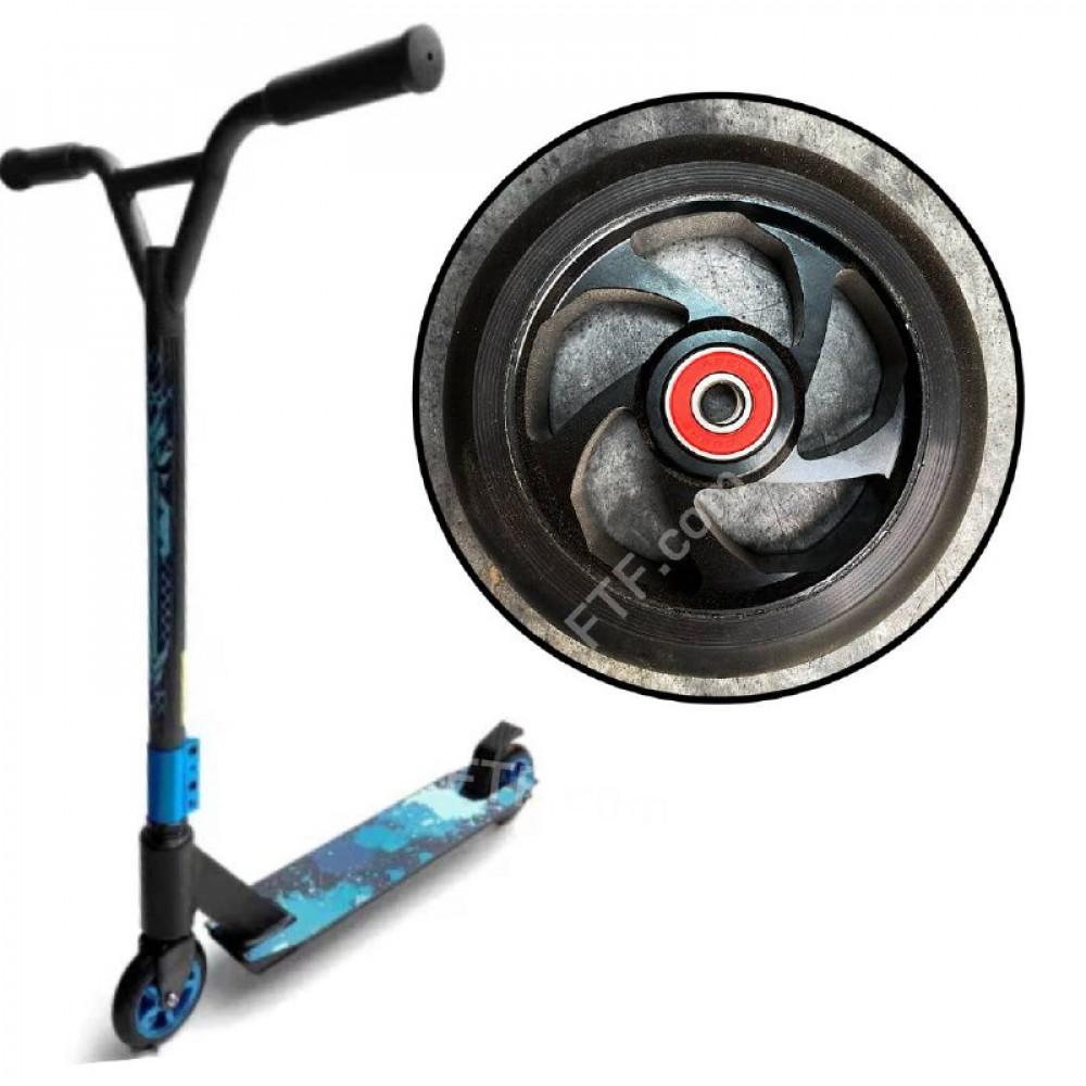 Колесо для трюкового самоката з підшипником ABEC-7608rs, 100 мм/ 10 см. алюміній 1 шт. чорний