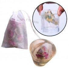 Чайні пакетики, фільтр пакет для заварювання чаю трав з ниточкою, чайний пакетик c затягуванням
