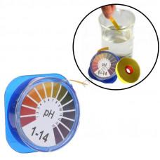 Лакмусовий індикаторний папір pH тест смужки лакмус pH1-14, 5 метрів