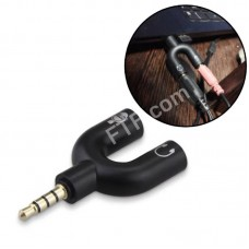 Спліттер для гарнітур Y-типу 2x1 3.5мм джек для ноутбука з 1 гніздом 2в1 мікрофон навушники