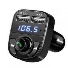 Автомобільний FM-модулятор M9 Bluetooth, Handsfree, 2x USB, MicroSD, 3.1А