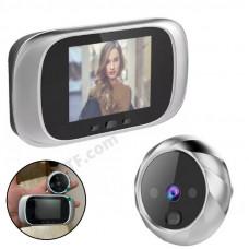 """Відеоглазок з екраном, цифровий 2.8"""", вічко для вхідних дверей з підсвічуванням і дзвінком"""