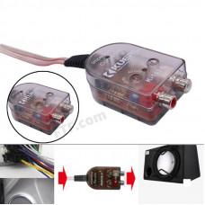 Конвертер сигналу у авто,  перетворювач рівня аудіо сигналу, високого на низький RCA для авто