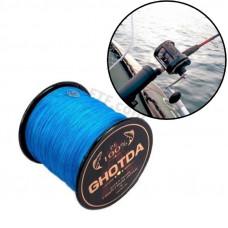 Плетений шнур, рибальський, 4 жильний, 300м, 0.28 мм 16.3 кг GHOTDA, синій