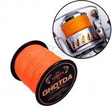 Рибальський шнур 4 жильний, плетений 150м, 0.23 мм 12.7 кг GHOTDA, помаранчевий