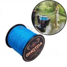 Шнур 4 жильний, рибальський, плетений 150м, 0.4 мм 27.2 кг GHOTDA, синій