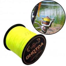 Рибальський 4 жильний шнур, плетений 300м 0.16 мм 8.2 кг GHOTDA, жовтий