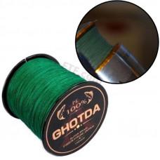 Рибальський шнур, 4 жильний, плетений 300м, 0.13 мм 5.4 кг GHOTDA, зелений