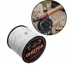 Плетений шнур 4 жили, рибальський 150м, 0.16 мм 8.1 кг GHOTDA, сірий