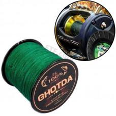 Рибальський шнур, плетений 8 жильний, 150м, 0.23 мм 14кг GHOTDA, зелений