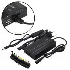 Універсальний автомобільний блок живлення для ноутбуків + мережа для ноутбука 12-24В 120Вт