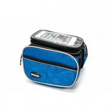 Велосумка Bravvos, нарамна сумка для велосипеда, блакитна