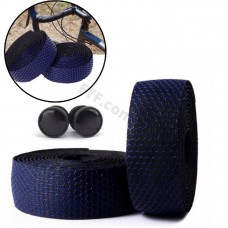 Обмотка на кермо велосипеда Соти, захист для керма велосипеда, стрічка на руль, синій / чорний самоклеюча