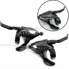 Моноблоки Shimano ST EF500, L3, R7 (3x7 швидкостей) пара, чорні